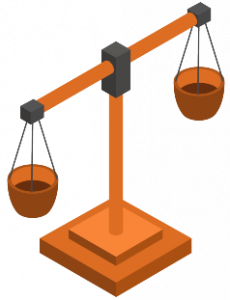 personal injury lawyer scales